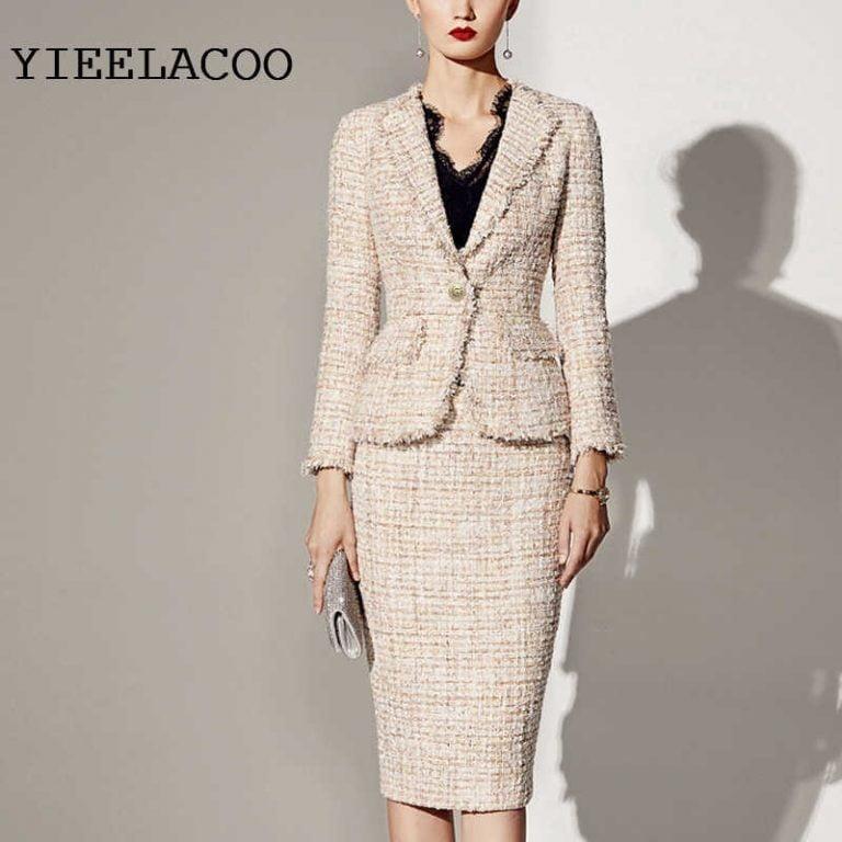 Womens Tweed Suit