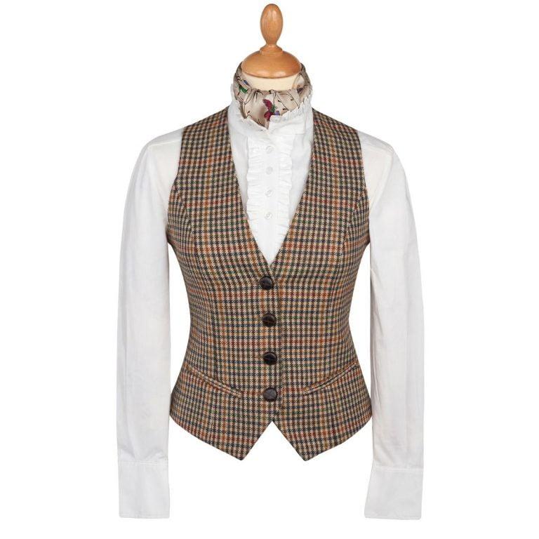 Womens Tweed Waistcoat