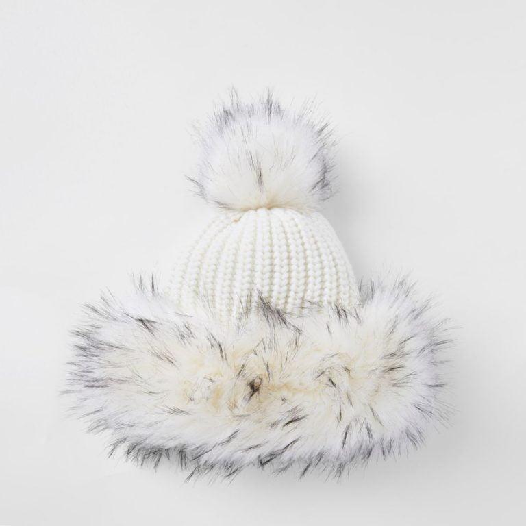 Black Fur Bobble Hat